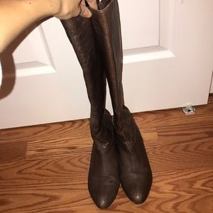 Steve Madden Brown Leather Over the Knee Boots 6.5